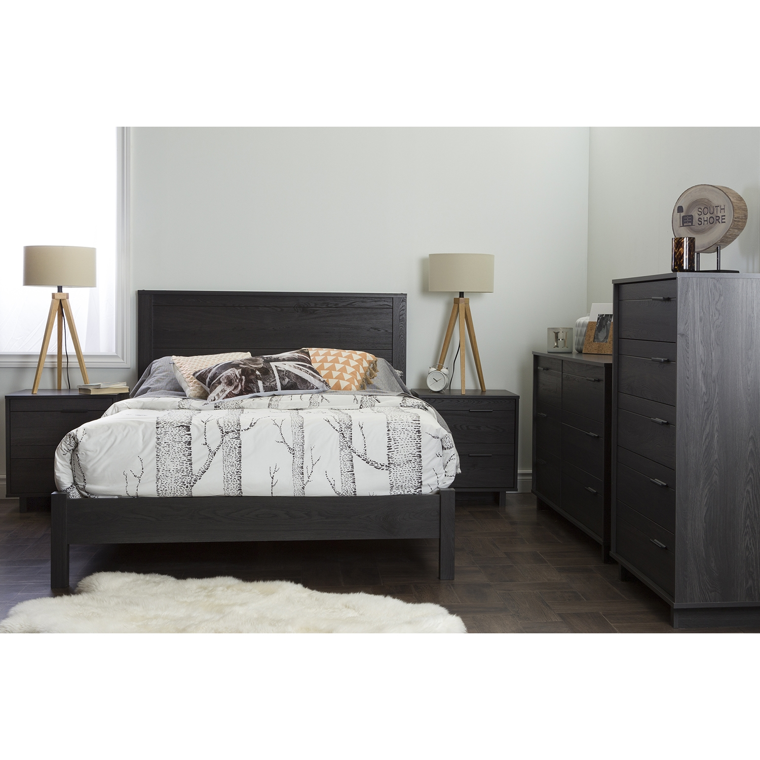 Fynn Full Headboard - Gray Oak - SS-10093