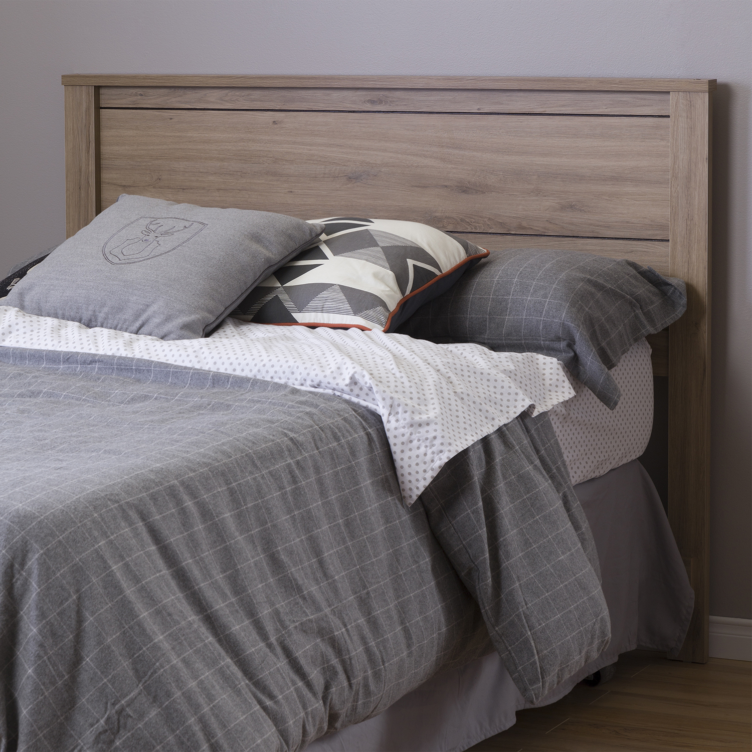 Fynn Full Headboard - Rustic Oak - SS-10094