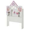 Vito Twin Bookcase Headboard with Decals - Dollhouse Theme, Pure White - SS-10098