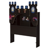 Vito Twin Bookcase Headboard with Decals - Castle Theme, Chocolate - SS-10100