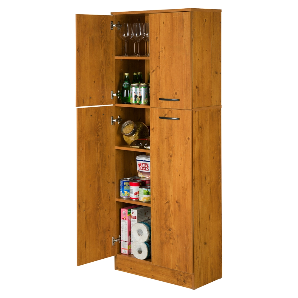 Axess 4 Doors Storage Pantry Country Pine Dcg Stores
