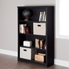 Morgan 4 Shelves Bookcase - Black Oak - SS-10141