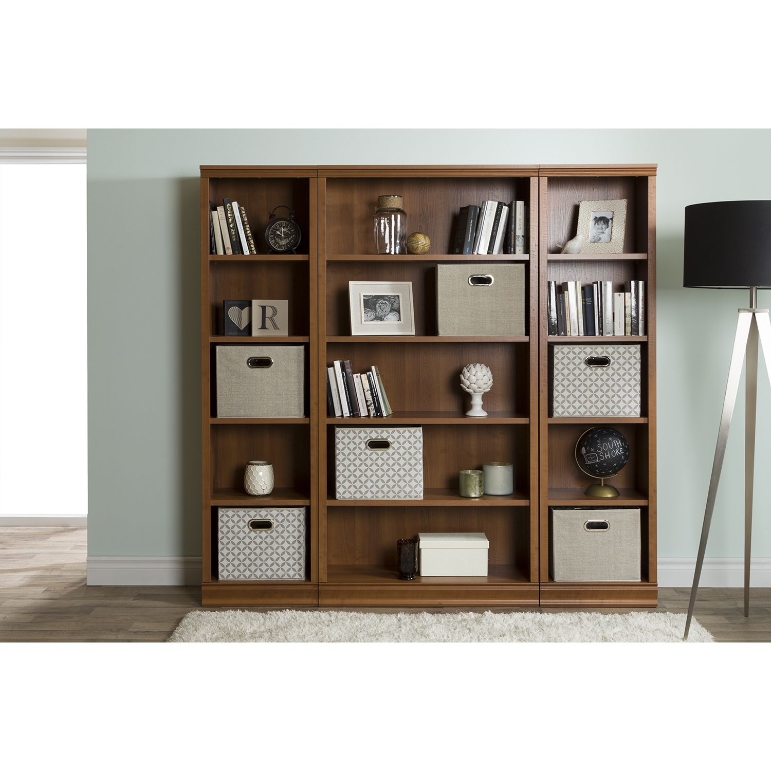 Morgan 5 Shelves Bookcase - Morgan Cherry - SS-10146