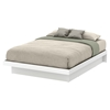 Basic Queen Platform Bed - Moldings, Pure White - SS-10160