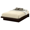 Basic Queen Platform Bed - Moldings, Chocolate - SS-10163