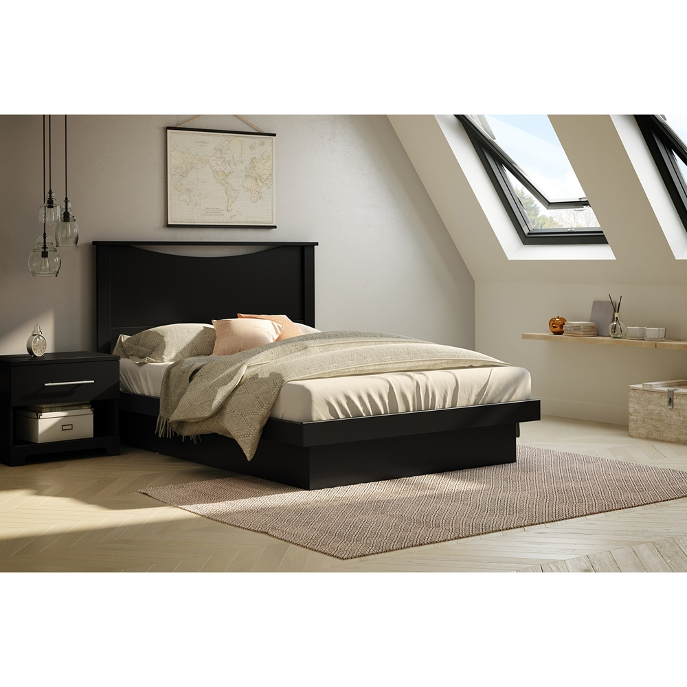 Basic Full Platform Bed Moldings Pure Black Dcg Stores