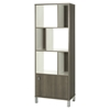 Expoz 6 Cubes Shelving Unit - Door, Gray Maple, Pure White - SS-10169