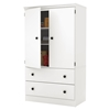 Morgan Armoire - 2 Doors, 2 Drawers, Pure White - SS-10172