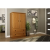 Morgan Armoire - 2 Doors, 2 Drawers, Morgan Cherry - SS-10174
