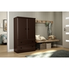 Morgan Armoire - 2 Doors, 2 Drawers, Chocolate - SS-10175