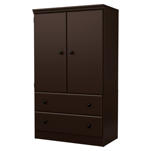 Morgan Armoire - 2 Doors, 2 Drawers, Chocolate