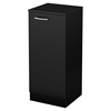 Axess Narrow Storage Cabinet - Pure Black - SS-10180