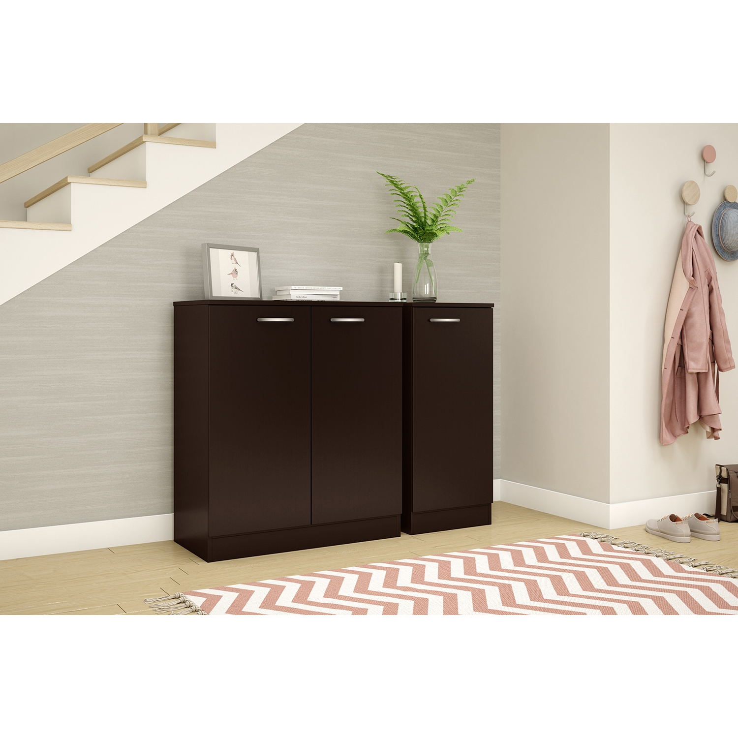 Axess Storage Cabinet - 2 Doors, Chocolate - SS-10182