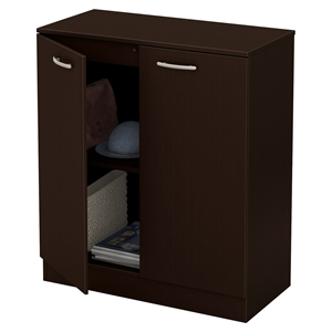 Axess Storage Cabinet - 2 Doors, Chocolate