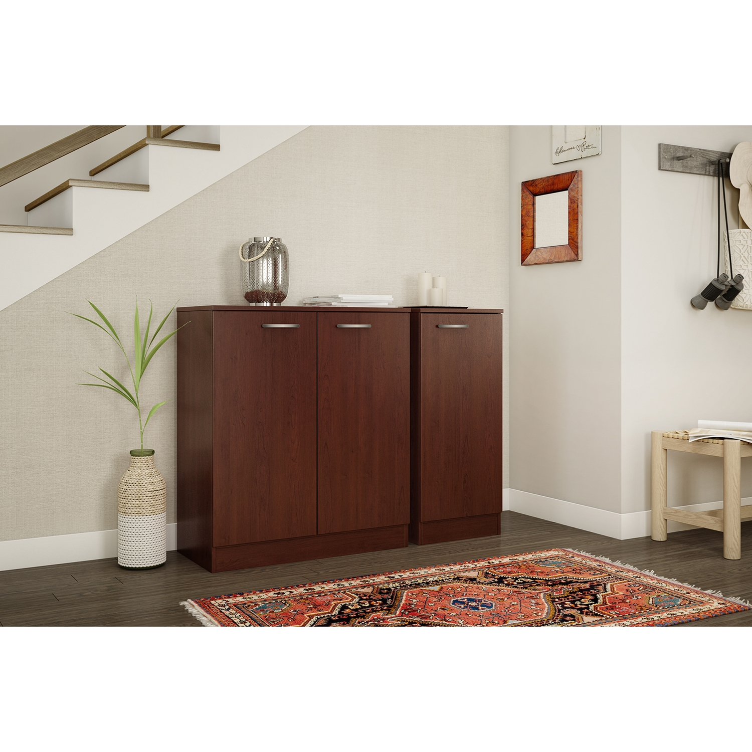 Axess Storage Cabinet - 2 Doors, Royal Cherry - SS-10185