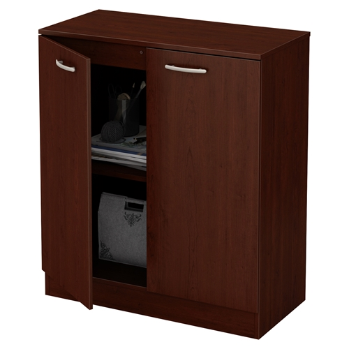 Cherry Royal Kitchen Cupboards: Axess Storage Cabinet - 2 Doors, Royal Cherry
