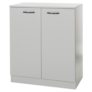 Axess Storage Cabinet - 2 Doors, Soft Gray
