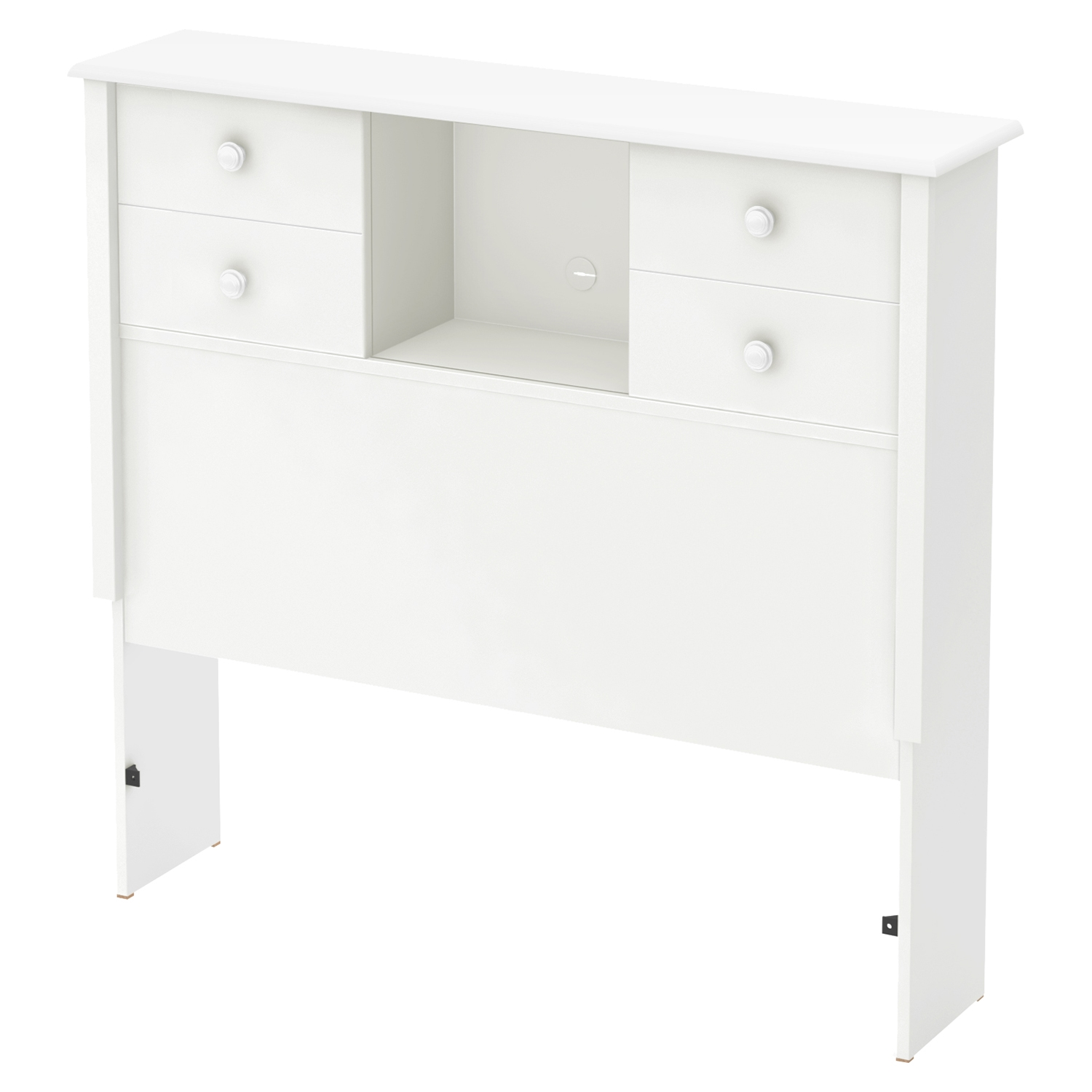 Little Smileys Twin Mates Bedroom Set - 3 Drawers, Pure White - SS-10479-SET