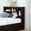Vito Twin Bookcase Headboard - Chocolate - SS-10232