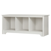Vito Cubby Storage Bench - Pure White - SS-10327