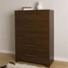 Primo 5 Drawers Chest - Brown Walnut - SS-10334