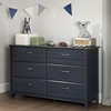 Ulysses 6 Drawers Double Dresser - Blueberry - SS-10361