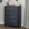 Ulysses 4 Drawers Chest - Blueberry - SS-10362