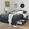 Primo Full/Queen Platform Bed - Drawer, Pure Black - SS-3307A1