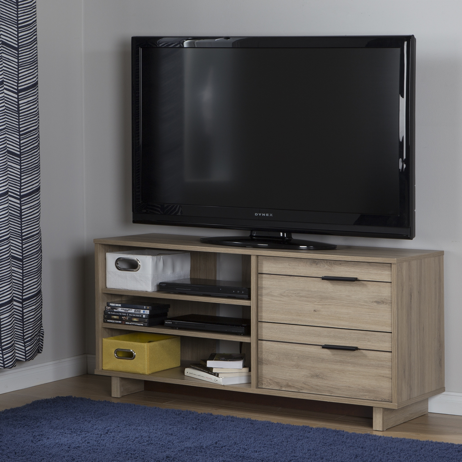 Fynn TV Stand - 2 Drawers, Rustic Oak - SS-10375