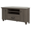 Noble Corner TV Stand - 2 Doors, 2 Shelves, Gray Maple - SS-10381