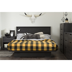 Holland Full/Queen Platform Bedroom Set - Gray Oak