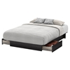 Step One Full/Queen Platform Bed - 2 Drawers, Gray Oak - SS-10446