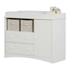 Peek-a-Boo White Changing Table with 2 Drawers - SS-2280331