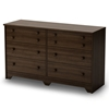 Popular Mocha Dresser with 6 Drawers - SS-2779027