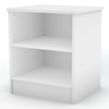 Libra White Nightstand with 2 Open Shelves - SS-3050059