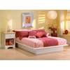 Step One Low Profile Platform Bed in White - SS-30502