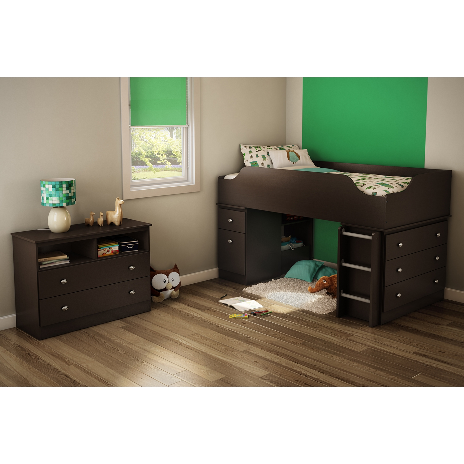 Treehouse 2 Drawers Chest - Chocolate - SS-3069043