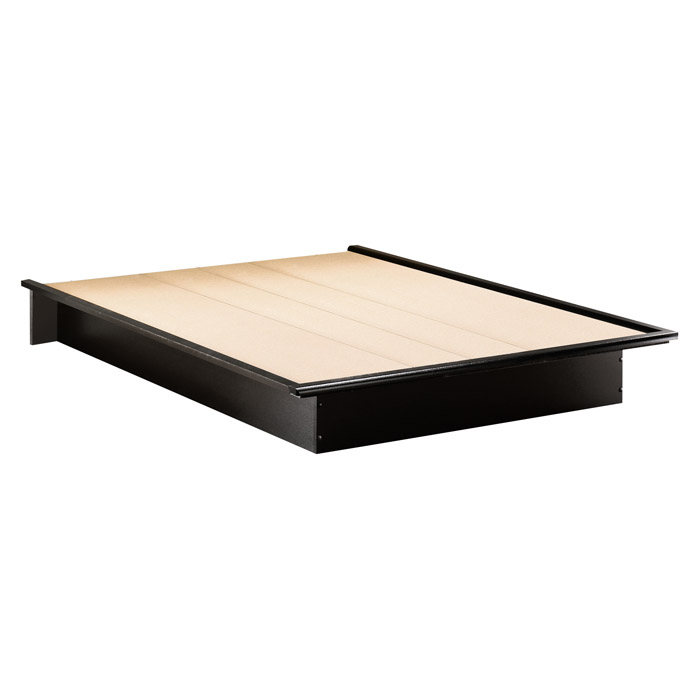 ... Step One Low Profile Platform Bed In Black   SS 30702 ...