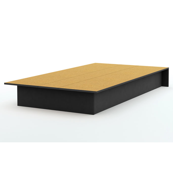 Libra Low Profile Twin Platform Bed In Black Dcg Stores