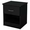 Libra Nightstand - 1 Drawer, Pure Black - SS-3070061