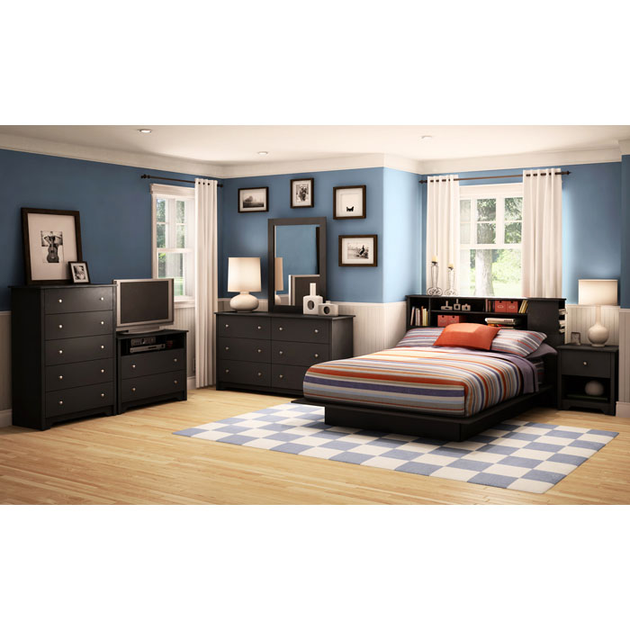 Vito 6-Drawer Dresser in Black - SS-3170010