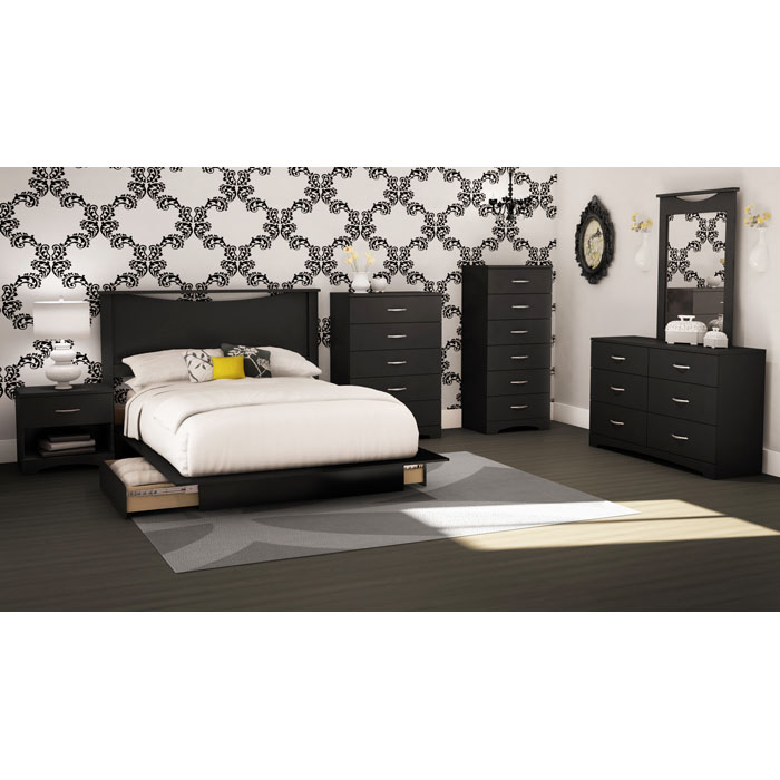 Step One Black Chest with 6 Drawers - SS-3107066