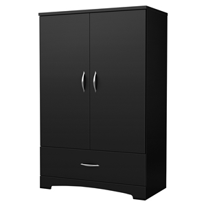 Step One Armoire - 2 Doors, Pure Black