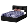 Step One Full Bookcase Headboard - 3 Compartments, Pure Black - SS-3107079