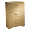 Step One Natural Maple 5-Drawer Chest - SS-3113035