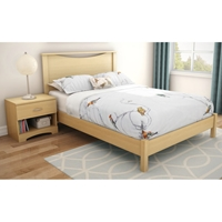 Step One Natural Maple 3 Piece Bedroom Set