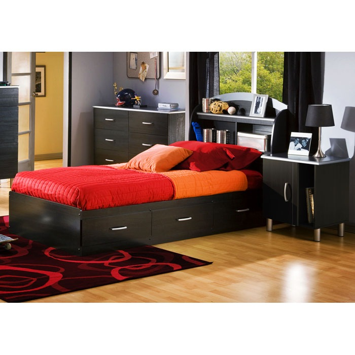 Cosmos 3 Piece Bedroom Set with Twin Mate's Bed - SS-3127-MB-3PC