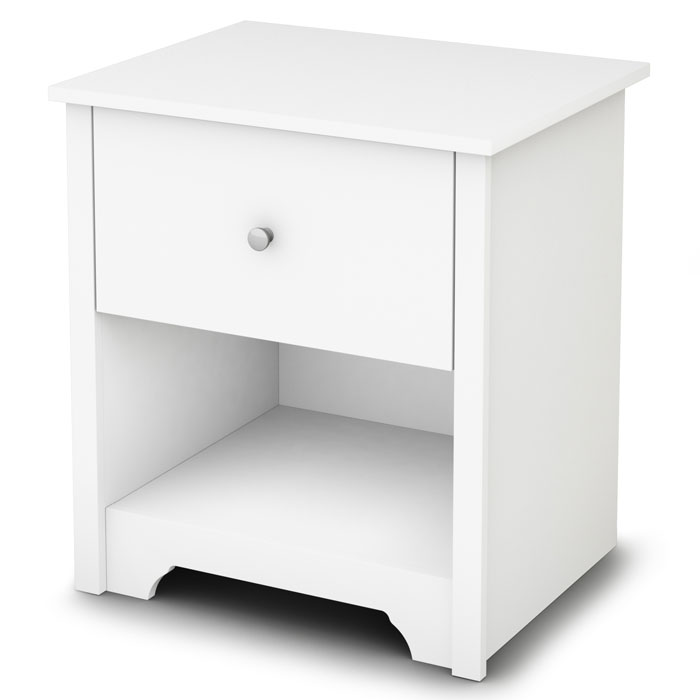 Vito Single Drawer Nightstand in White