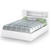 Vito White Queen Storage Bed With Bookcase Headboard Dcg Stores