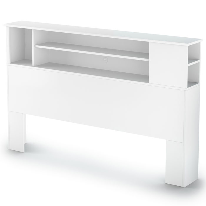Vito White Bookcase Headboard